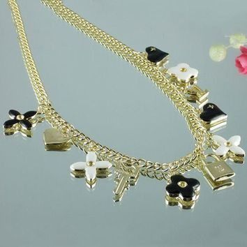 8DESS Louis Vuitton Woman Fashion Accessories Fine Jewelry Chain Necklace 0e80682e98