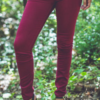 Classic City Skinnies in Wine