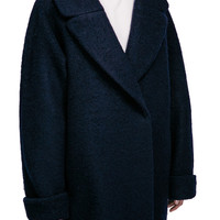 Brushed Wool Oversize Coat