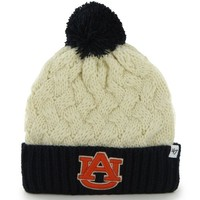 '47 Brand Auburn Tigers Ladies Thick Knit Cuffed Beanie - Natural/Navy Blue