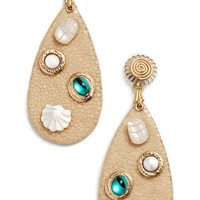 Gas Bijoux Leather Drop Earrings | Nordstrom