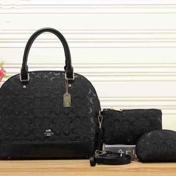 LV Fashion Leather Shoulder Bag Tote Fashion Handbag Set Three-Piece For Women G-KSPJ-BBDL