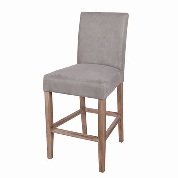 Borden Fabric Counter Stool Brushed Smoke Legs, Denim Dove