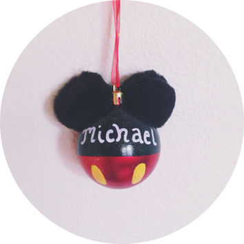 Mickey Mouse Handmade Ornament Personalized