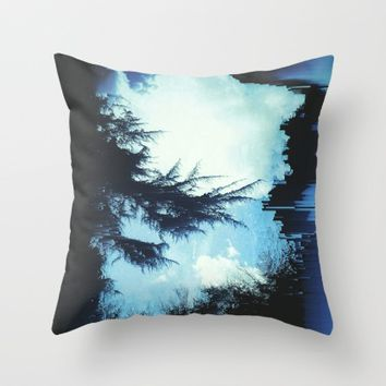 In the Wind Throw Pillow by Ducky B