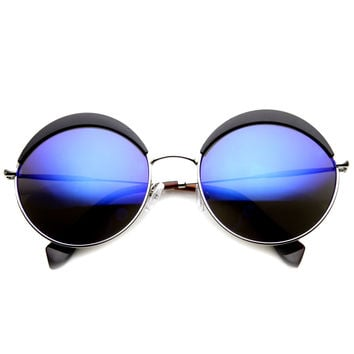 Unique Women's Round Top Brow Fashion Sunglasses 9751