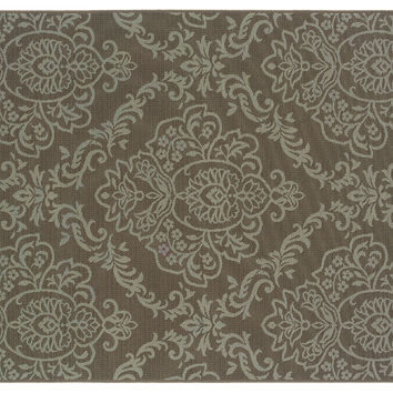 "1'9""x3'9"" Aptos Outdoor Rug, Mocha, Area Rugs"