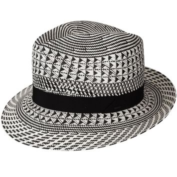 "Bailey ""Arsun"" Patterned Straw Fedora"