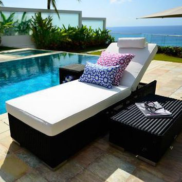2017 best selling outdoor furniture woven resin wicker waterproof daybed