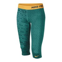 Nike Pro Fitted Graphic Girls' Capris - Turbo Green