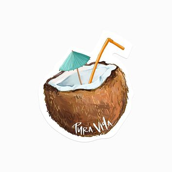 Pura Vida Coconut Sticker Decal