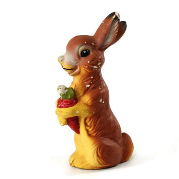 Vintage Easter Bunny, Paper Maché Rabbit, Candy Container