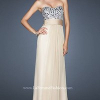 Chiffon evening gown by La Femme