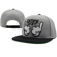 Ceelcy Dope Shit Snapback Grey And White Hat Adjustable Baseball Cap Hip-hop Caps