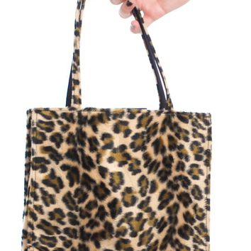 Vintage 90's Cheetah Bb Fuzzy Purse