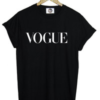 VOGUE T SHIRT tee top womens mens grunge retro hipster indie swag dope high tumblr celine homies black white paris beyonce fashion blog