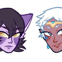 Galra Keith and Altean Lance Pins [Set of 2] by Hailcakes