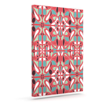 "Miranda Mol ""Stained Glass Pink"" Outdoor Canvas Wall Art"