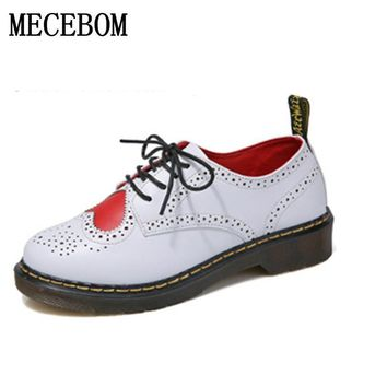 Woman Flats British casual shoes women shoes Platform Women's Oxfords Shoes  Vintage Shoes calzado mujer creepers footwear 1069W