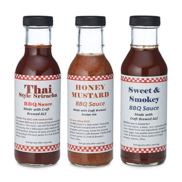 Beer Infused BBQ Sauce - Set of 3 | homemade bbq sauce
