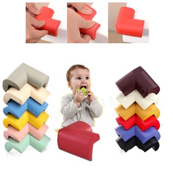 8Pcs/lot  Soft Baby Safe Corner Protector Baby Kids Table Desk Corner Guard Children Safety Edge Guards bumper doors tuning