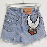 Harley Davidson Patched Shorts