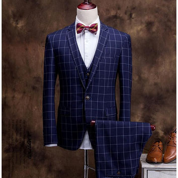 Men 3 Piece Wedding Suit