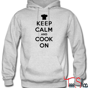 Keep calm and cook on hoodie