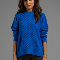 Central Park West Caribou Oversized Pullover in Cobalt from REVOLVEclothing.com