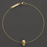 Zoë Chicco 14K Yellow Gold Small Skull Bracelet