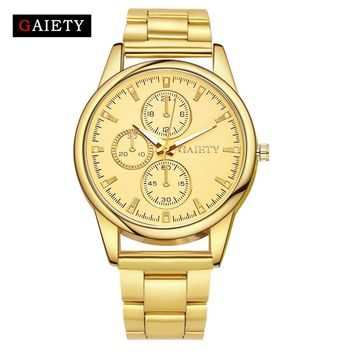 Gaiety Fashion Golden Silver Quartz Bracelet Watch Women Reloj Mujer Luxury Full Stainless Steel Ladies Dress Watch Relogio G109