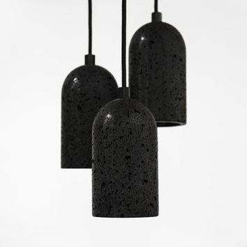 Lava Rock Pendant Lamp - U