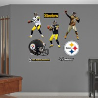Pittsburgh Steelers Ben Roethlisberger Hero Pack Wall Decals by Fathead