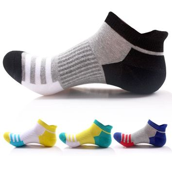 Men/Women 5 Pairs/Lot New Spring Autumn Sport Stripes Socks Outdoor Running Hiking Socks Breathable Cotton Striped Sport Sock