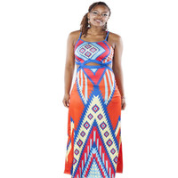 African Printed Dashiki | Unique Long Sleeveless Sexy Party Dress
