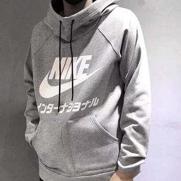 Nike Fashion Long Sleeves Hooded Top Pullover Sweatshirt Sweater