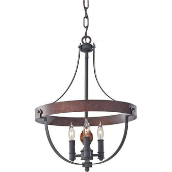 Murray Feiss Alston 3 Light Metal Mini Chandelier - F2797/3AF/CBA