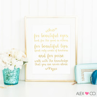 Audrey Hepburn Quotes, P-3, Bathroom Quotes, Printable Quotes, Audrey Hepburn Print, Powder Room Print, Home Decor, Girls Room