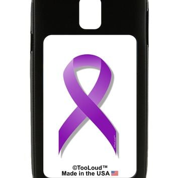Epilepsy Awareness Ribbon - Purple Galaxy Note 3 Case  by TooLoud