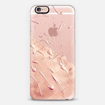 Pastel Rose Gold Rain (transparent) iPhone 6s case by Lisa Argyropoulos | Casetify