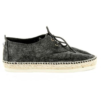 Black 41 EUR - 11 US Sun Z Womens Espadrille CARMEV BLACK METAL