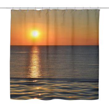 Reflective Sun Shower Curtain