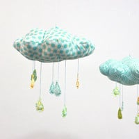 Raindrops keep falling on my head  cloud mobile in by BabyJivesCo