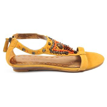 Nine West Womens Sandal NWMEDALION MED YELLOW