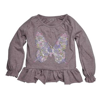 Burt's Bees Baby Organic Floral Butterfly Peasant Top - Toddler Girl, Size: