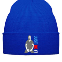 shia labeouf just do it Embroidery - Beanie Cuffed Knit Cap