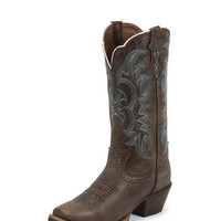 Women's Justin Silver Brown Boot - SVL7316