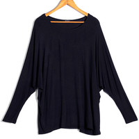 'The Minnie' Solid Color Batwing Sleeve Blouse