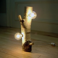 White Birch Forest Light by virtualdesignlab on Etsy