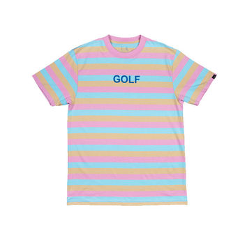 GOLF STRIPE TEE PINK – Odd Future